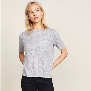 Rails   Micah Fuzzy Grey Short Sleeve Tee Size S